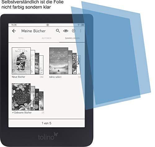 2x ANTIREFLEX matt Schutzfolie für Tolino Shine 3, 3HD, Shine 2 HD, Page Premium Bildschirmschutzfolie Displayschutzfolie Bildschirm Schutz Glas Schutzhülle Bildschirmschutz Bildschirmfolie Folie