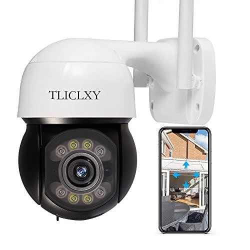 Telecamera Wifi Esterna Telecamera Video Sorveglianza Colori Visione Notturna Rilevamento A Infrarossi Tuya APP 3MP(2560×1920) 360 ° Condivisione Dispositivo Push Di Allarme Audio Bidirezionale