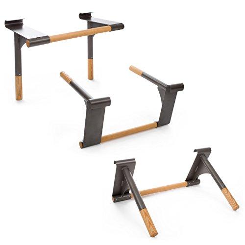 Sport-Thieme Klimmzug-Dip-Stange   Mit Sprossenwand kompatibel   Hochwertige Metallkonstruktion mit Holzsprossen   Sehr robust bis 120 kg belastbar   Maße (BxHxT): 70x50x34 cm