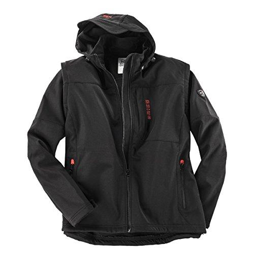 Brigg Soft Shell Jacke und Weste schwarz Übergröße, XL Größe:2XL