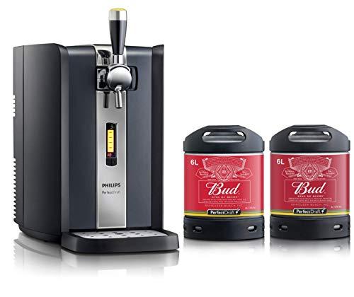 Grifo de cerveza PerfectDraft. Incluye 2 barriles de 6 litros de Bud King of Beers - Lager. Incluye un depósito de 10 euros. - Regalo ideal
