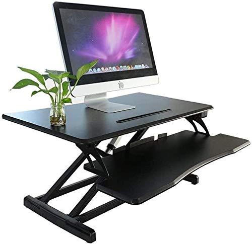 Suge Escritorio de la computadora de escritorio de altura ajustable de pie convertidor convertidor de la situación del escritorio de pie mesa de escritorio elevador situación superior mesa de altura a