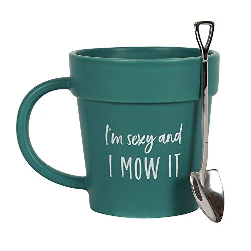 Coffee Mug , Pot Mug and Shovel Spoon Unique Design Gift Set for Nature Lovers Birthdays & Father's Day