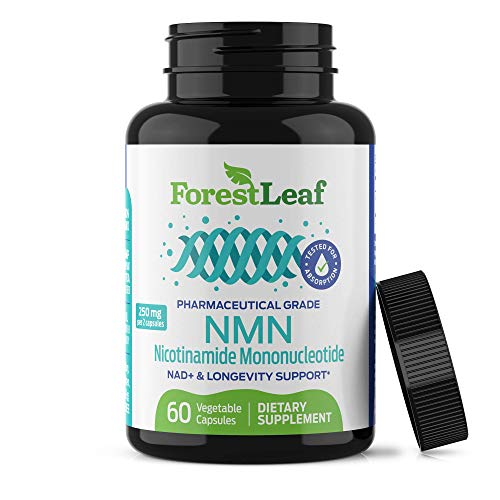Advanced Purity NMN Nicotinamide Mononucleotide - MAX Absorption, NAD+ Levels, Anti Aging, Health and Longevity Supplement - Brain, Energy, Cell and Metabolic Function - 60 Capsules - ForestLeaf