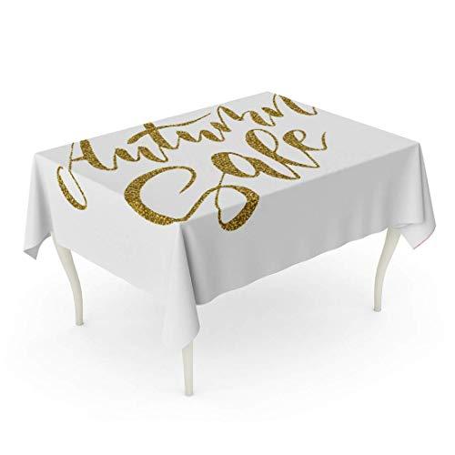 LIS HOME Rektangel bordsduk abstrakt höstrea kalligrafisk för flygblad mallar annonsera höstlig höst flayer bordsduk