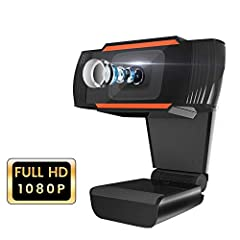 [Perfect HD Image Quality]>>> Full 1920x1080 resolution, CMOS sensor, supply smooth and crystal clear video at 30 fps. Support Auto White Balance and Auto Color Correction, make the color more real and natural. [Built-in Microphone]>>> Built-in micro...