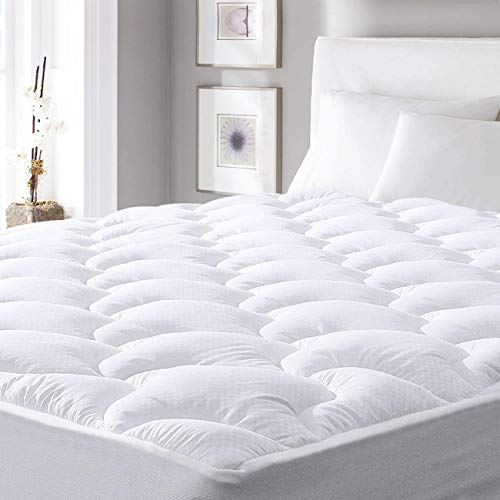 """Viewstar Cooling Mattress Pad Twin XL Size,Extra Thick Mattress Topper, Pillow Top Mattress Pad Cover with Down Alternative Fill,6-21"""" Deep Pocket for Twin XL Size Bed Soft and Breathable,Twin XL"""