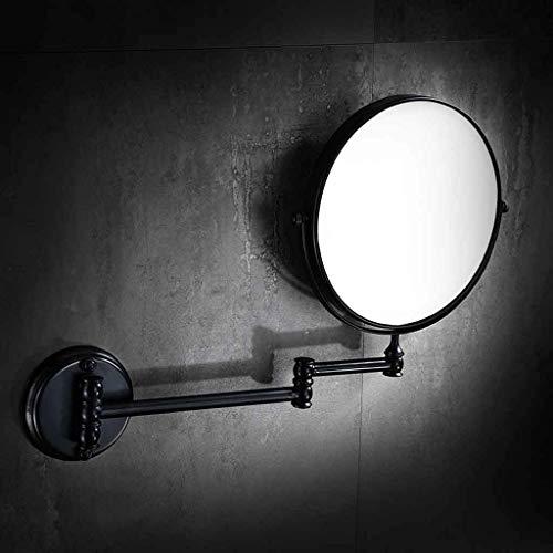 No logo TIN-YAEN Tischspiegel Schlags freies Kupfer Antik Spiegel Schwarz Bad Wand-Kosmetikspiegel Beidseitige Teleskop Lupe Alle Kupfermaterialien Nicht Xuan rosten - es lohnt Sich Badspiegel