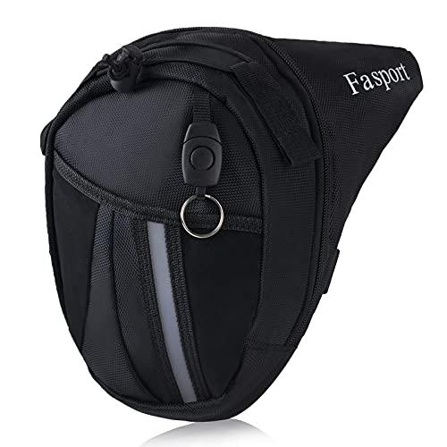 Hylzo Bolso Pierna Moto Hombre,Fanny Waist Pack Riñonera Moto Pierna Impermeable Riñonera Lateral Hombre Bandolera Cintura Hombre Leg Bag para De Excursión,Bicicleta,Outdoor