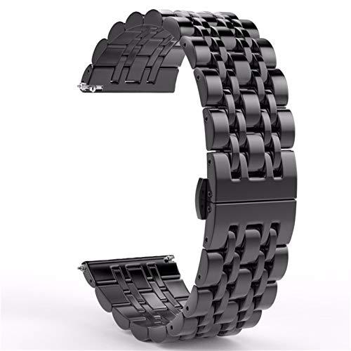 DFKai1run Correa de Acero Inoxidable, 20/22 MM Banda De Acero Inoxidable Reloj For El Reloj 42mm 46MM Pulsera De Reemplazo For El Engranaje S2 S3 Classic/Frontier Deportes de Moda