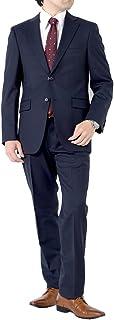 (アウトレットファクトリー)OUTLET FACTORY スーツ メンズスーツ WOOL混素材 オールシーズン ベーシックスタイル ご家庭で洗濯可能なスラックス A体 AB体 BB体 2ツボタンビジネススーツ