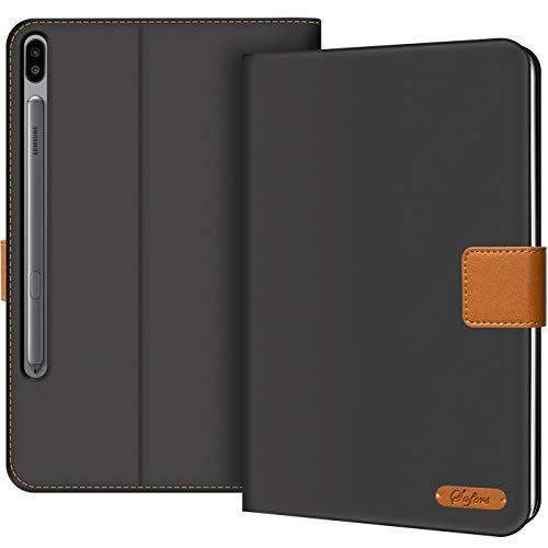Verco Hülle für Samsung Galaxy Tab S6 10.5, Schutzhülle Tablet Tasche Standfunktion Cover [T860 T865], Schwarz