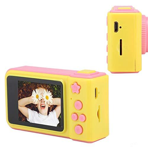 FOLOSAFENAR Mini cámara Segura Niños de Dibujos Animados Lindos Cámara Niños Digitales de Gran Capacidad, para niños niñas(Pink)