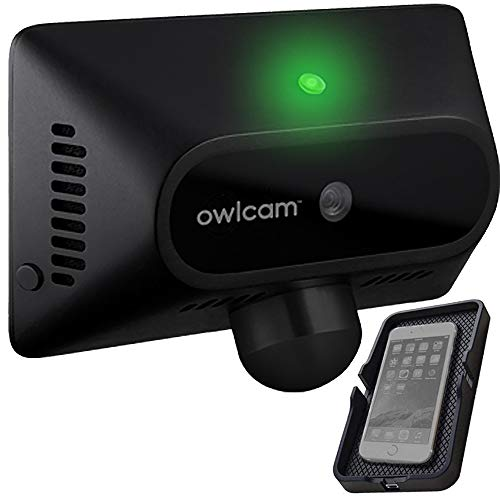 Owlcam Classic 3.0 (Subscription Required) AI-Powered Dual Car Security System with HD Road and Driver Facing Cameras, Incident Detection, Anti-Theft, Monitoring Features, and Wireless QI Charger Kit.