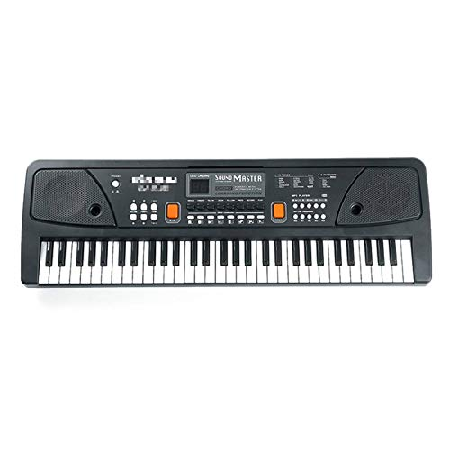 Tyueliang-Decoration Teclado electrónico para música digital infantil, 61 teclas, piano eléctrico, multifunción,...