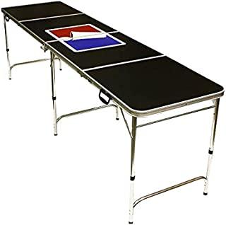 Red Cup Pong Portable Beer Pong Beirut Game Table - 8 Feet Long with Custom Bottle Opener