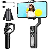 3-Axis Gimbal Stabilizer for Smartphone - 0.5lbs Lightweight Foldable Phone Gimbal for iPhone 11 Pro Max X XS, Auto Inception Dolly Zoom, Pocket Gimbal for Video Vlog Youtuber Hohem iSteady X (Black)