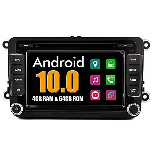 RoverOne Sistema Android Doppio DIN In Dash GPS di Navigazione per Volkswagen per Skoda per Seat con Autoradio Stereo Bluetooth USB DVD Touch Screen