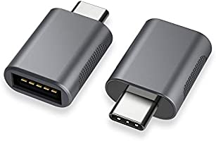 nonda NDMAGULCM USB C till USB Adapter för MacBook Pro 2019/2018/2017, MacBook Air 2018, Surface Go m.m., 2 st, Grå