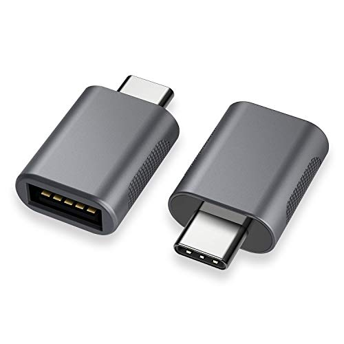 nonda Adaptador USB C a USB (2 pack), Adaptador USB-C a USB 3.0, USB Tipo-C a USB, Thunderbolt 3 a Adaptador USB hembra OTG para MacBook Pro 2019/2018/2017, MacBook Air 2018 y Más dispositivos tipo C