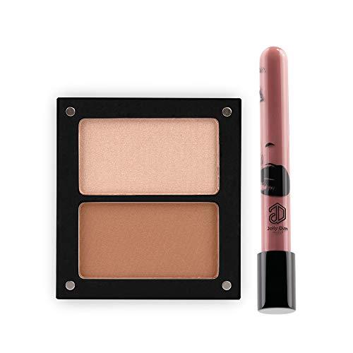 Jolly Dim Makeup - Set contorno e iluminador: Set contorno e iluminador. Lápiz labial cremoso...