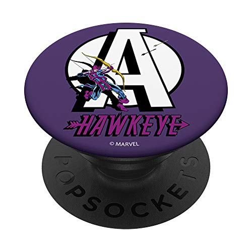 Marvel Avengers Retro Hawkeye Logo PopSockets PopGrip: Swappable Grip for Phones & Tablets