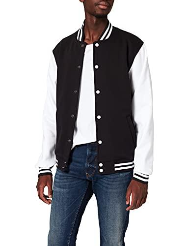 Urban Classics Sweat College Jacket Giacca, Multicolore (Blk/Wht 00050), XXXX-Large Uomo