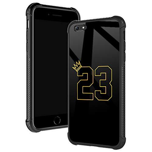 Schutzhülle für iPhone 6S, Basketball King 23, iPhone 6, für Jungen/Herren, Fashoin-Design, vier Ecken, Stoßdämpfung, rutschfest, gestreift, weicher TPU-Bumper für iPhone 6/6S, 11,9 cm, gelbe Krähe