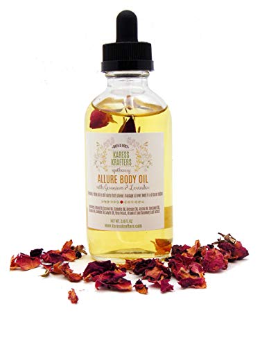 Allure Body Oil, Massage Oil, Bath Oil, All Natural, Aromatherapy Oil by Karess Krafters Apothecary