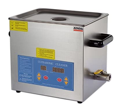 Kendal Commercial Grade Heated Ultrasonic Cleaner with Digital Temperature Control and Timer