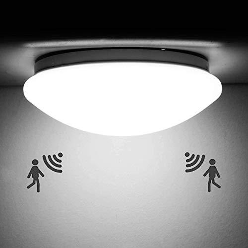 LED Deckenleuchte mit Bewegungsmelder, GGHKDD 12W 220V Lampe Mit Bewegungsmelder Innen, Deckenlampe Mit Bewegungsmelder IP44 Wasserfest Sensor lampe für Garage, Kellerräume, Flur, Eingangsbereich