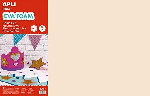 APLI Kids 12759- Goma EVA piel 600 x 400 mm 5 hojas