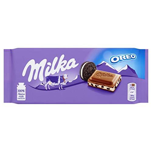 Milka Oreo - Chocolate Ao Leite Com Oreo Importado 100g