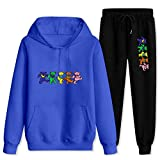 Dead Grate-ful Dancing B-Ear Tracksuit Hooded Sweatshirts Outfit 2 Piece Hoodies Top and Sweatpants Suit for Women Men