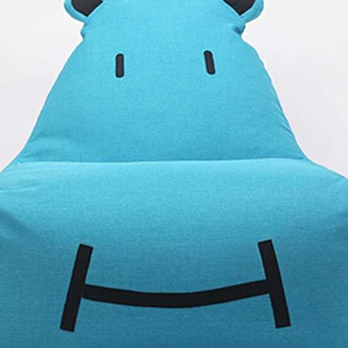 Bank GJDBBLY Enkele schattige baby kinder cartoon kunst luie bank. Tatami stoel. Zitzak klein Zoals afgebeeld-4 Blauw