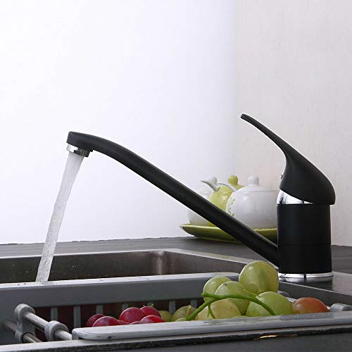 Keukenkraan voor keukenkraan met zwarte kraan