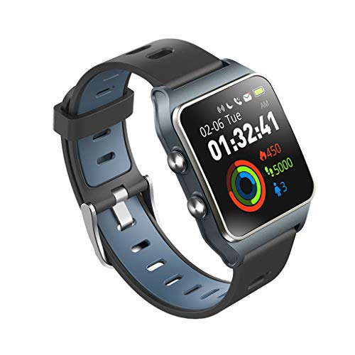 HHJEKLL Braccialetto Intelligente Strava Makibes Men GPS Smart Orologi SmartBand IP68 Inseguitore di Fitness Impermeabile, Grigio.