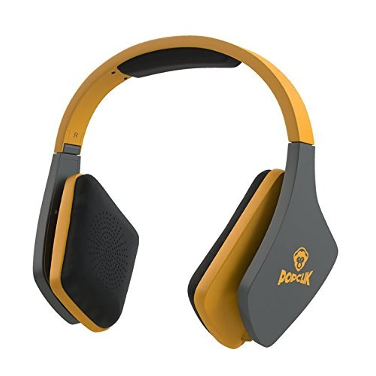 非効率的な安全性ラッシュPopClik JUMP! Pro Headphones in Yellow 40 mm Neodymium Magnet Driver Over the Ear 16 Ohms Impedance [並行輸入品]