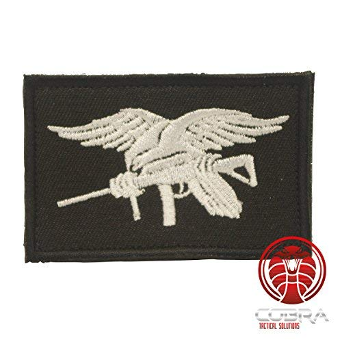 Cobra Tactical Solutions US Navy Seals Special Ops Flagge Military Besticktes Patch mit Klettverschluss für Airsoft Paintball für Taktische Kleidung Rucksack
