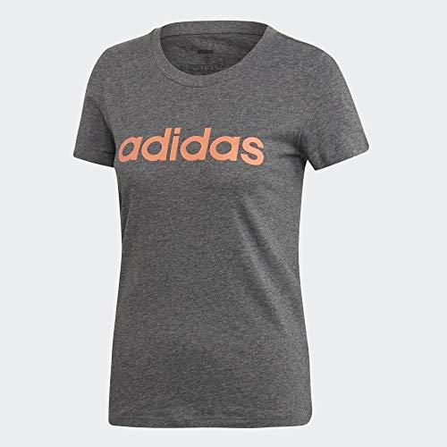 adidas W E Lin Slim T Maglietta da Donna, Donna, Maglietta, EI0696, brgros/Semcor, XS