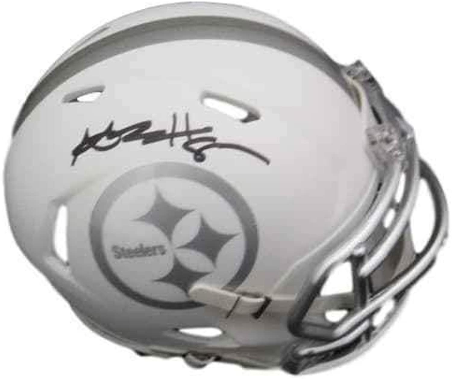 Signed Antonio Brown Mini Helmet  Ice 16517  JSA Certified  Autographed NFL Mini Helmets