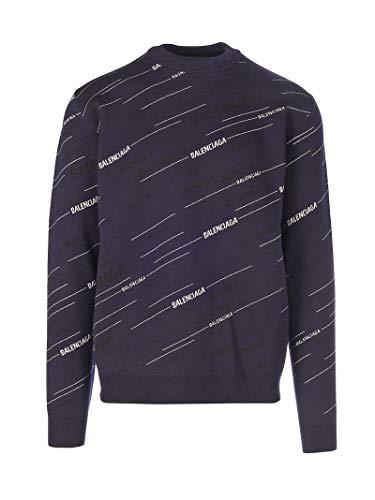 Luxury Fashion | Balenciaga Heren 583080T15246000 Donkerblauw Wol Truien | Seizoen Permanent