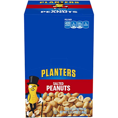 15 Packs Of 2.4oz Planters Salted Peanuts For $6.54-$7.31 Shipped From Amazon After $10 Price Drop