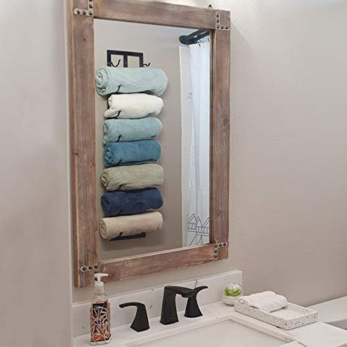 Womio Rustic Bathroom Mirrors for Wall,24