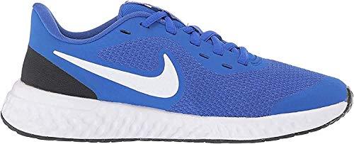 mejores Zapatillas para niño Nike Revolution 5, Zapatillas de Atletismo Unisex niño, Multicolor (Racer Blue/White/Black 401), 21 EU