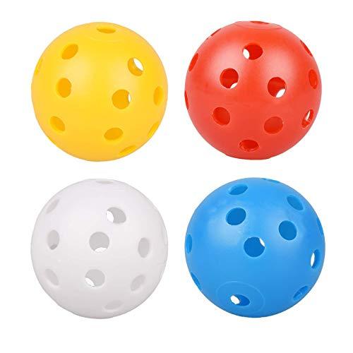 Bebester Golfbälle, 50 Stück, Kunststoff, Golfbälle, Airflow, Golfübungsball, farbig, für Kinder, Golftraining, Zubehör (Durchmesser 4,6 cm)
