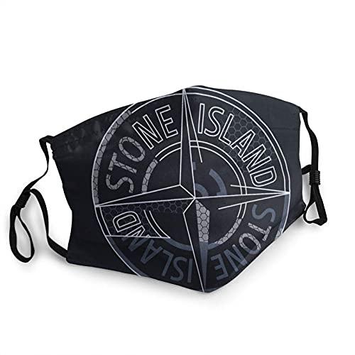 clásico azul negro-Stone-Is-land impresión 3D adulto ajuste la máscara de la frontera, protección facial portátil, borde elástico, pasamontañas, bandana/7.9 'x 5.9 '