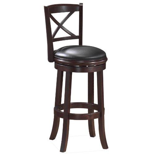 Boraam Georgia Bar Height Swivel Stool, 29-Inch, Cappuccino