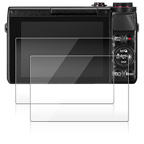 Bildschirm Schutz für Canon G9X G7X, AFUNTA 2 Pack Anti-Kratzer gehärtetes Glas für G9 X G7 X DSLR-Kamera