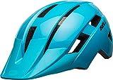 BELL Sidetrack II Casco de Bicicleta, Unisex niños, Azul Claro, Talla única